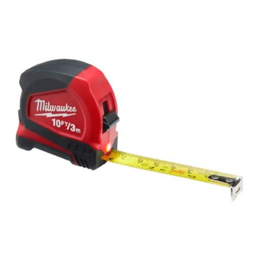 Milwaukee 48226602 LED Pocket Tape Measure 3m/10ft (Width 12mm)